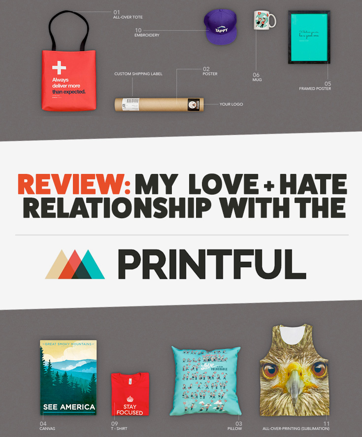 Review my love hate relationship with the printful